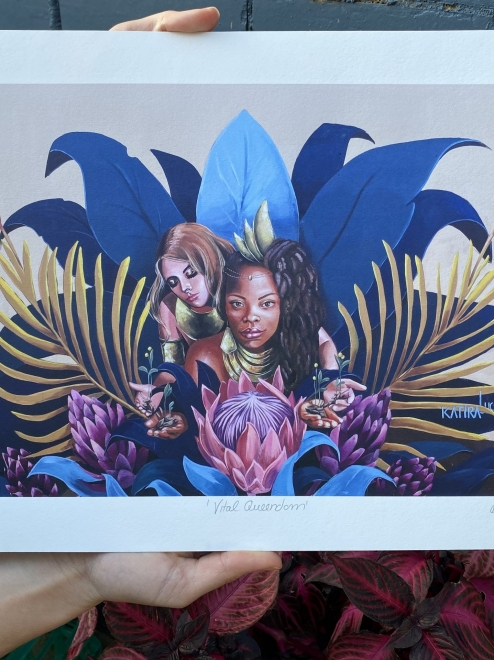 'Vital Queendom' by Lucy Lucy x Katira   Limited Edition of 20 Prints
