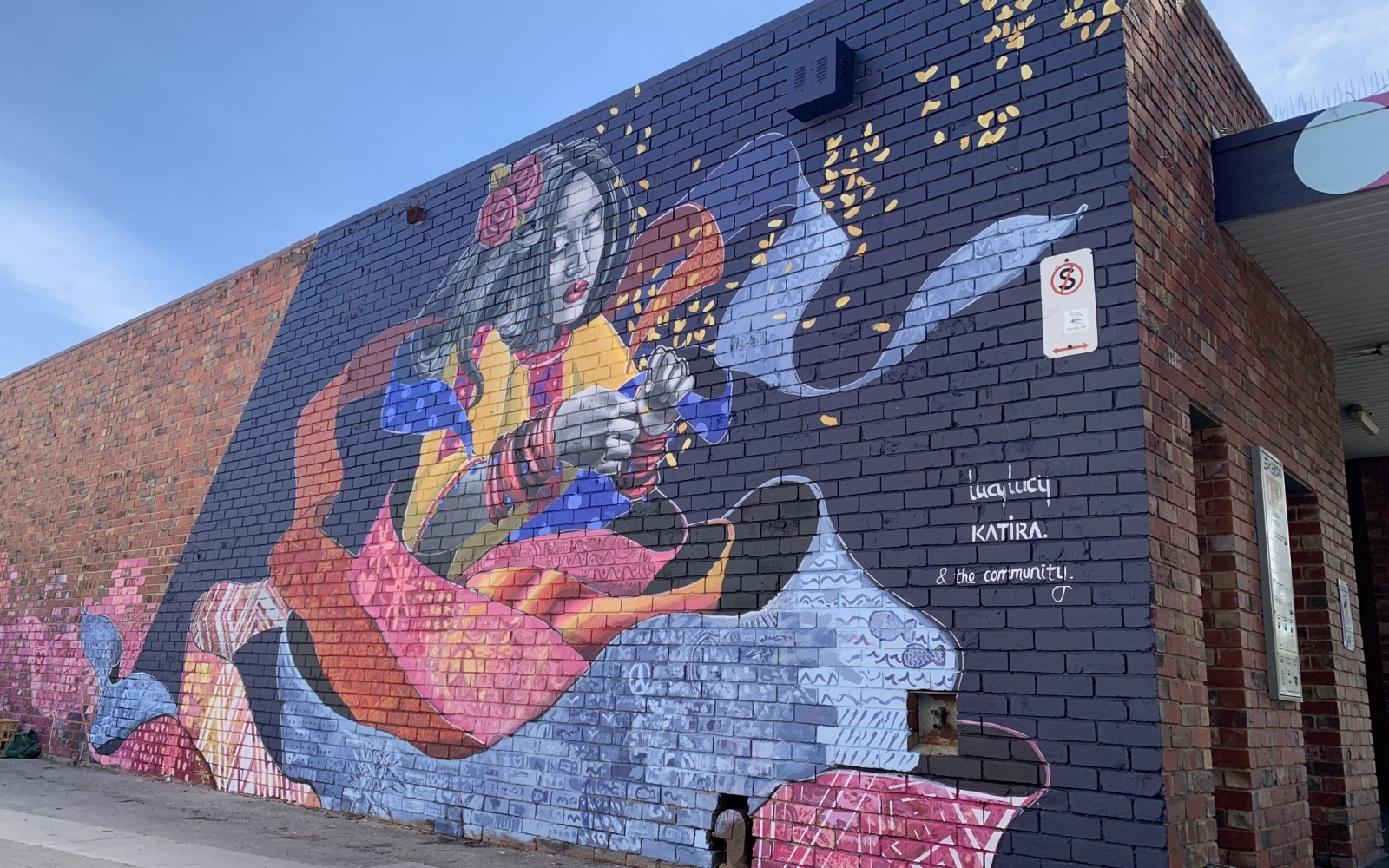 Mural in Collab. with Lucy Lucy at Coburg Library