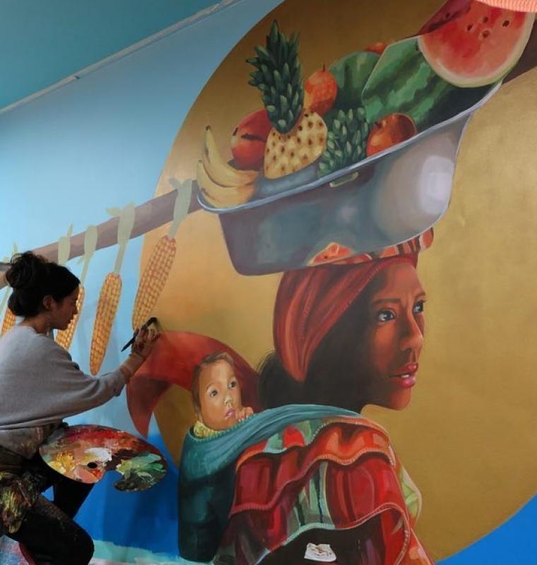 Mural Club Colombia WIP
