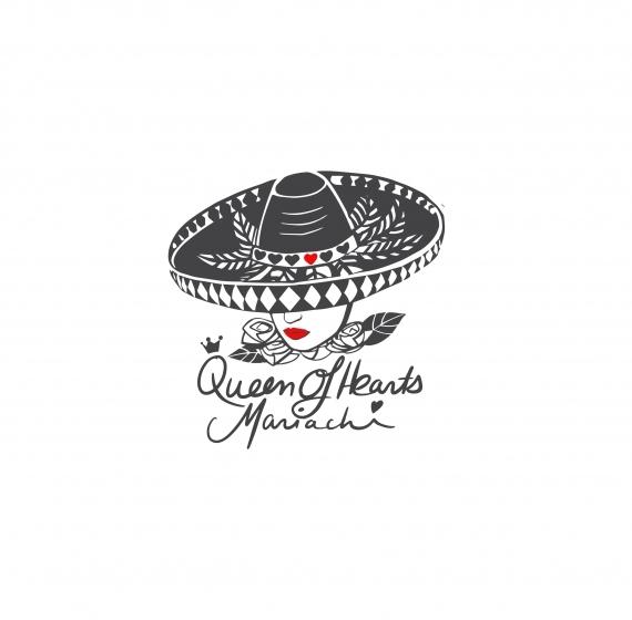 Logo Design for 'Queen Of Hearts Mariachi'
