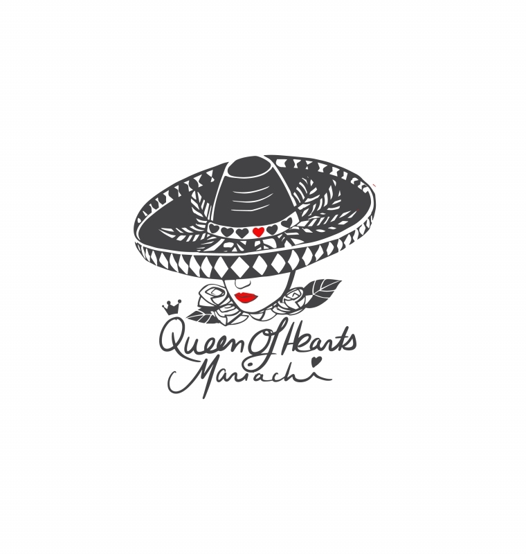 Logo Design for 'Queen Of Hearts Mariachi'