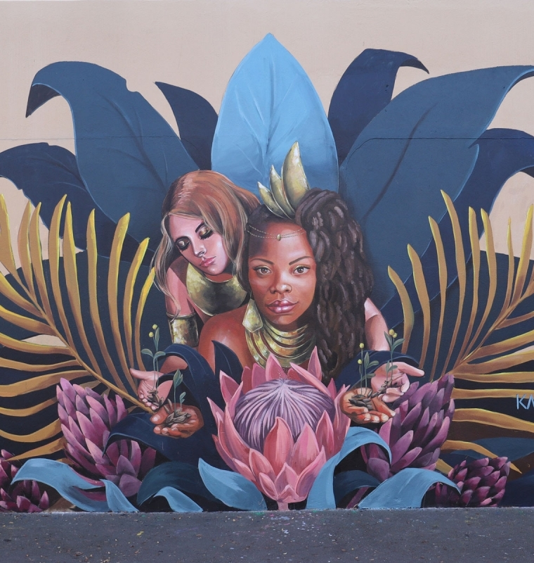 mural Commission, 'Vital Queendom, City Of Whitehorse